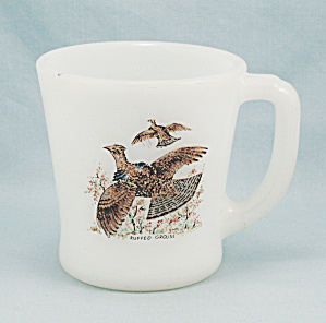 Fire King - Mug, Ruffled Grouse, D Handle