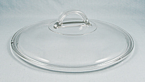 Pyrex L 22 C - 9 Inch, Clear Cover/lid, Fin Style