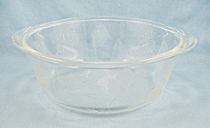 McKee – Etched Hibiscus - Sears & Roebuck - S & R Ovenware – Casserole Base (Image1)
