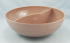 Boonton - Melmac - Large Divided Bowl, Light Brown