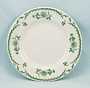 Shenango - Green Cardon Rose - Bread & Butter Plate