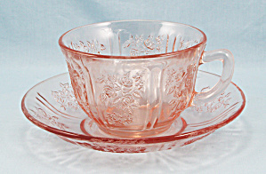 Sharon – Pink Cabbage Rose – Cup And Saucer (Image1)
