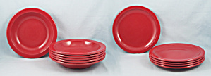 Texas Ware Lot Of 11 - Tomato Red Melmac Dishware