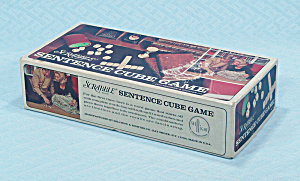 Sentence Cube, Game, Scrabble Brand, Selchow & Righter, 1971