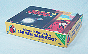 Where In The Usa Is Carmen Sandiego? Game, University Games, 1993