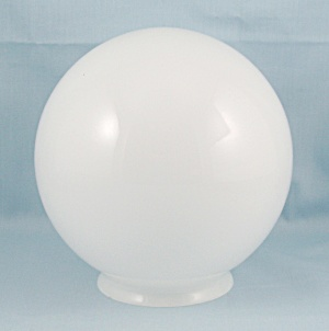 White Glass Globe – Ball Shaped, 8-Inch (Image1)