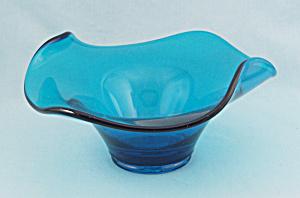 Viking Glass Epic Bluenique, Modernist Bowl (Image1)
