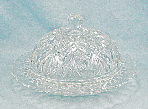 Pineapple, Round Covered Butter - Prescut Clear By Anchor Hocking