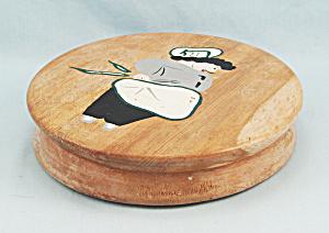 Vintage Wooden Hamburger Press – Chef Front Design (Image1)
