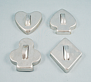 4- Cookie Cutters, Bridge Set, Smooth Edge
