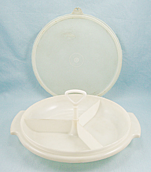 Tupperware 608 - Three Piece Divided Serving Tray