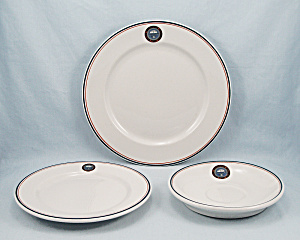 University Arizona - Three Restaurant Ware Plates