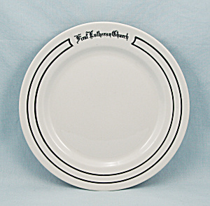 First Lutheran Church Plate - Cincinnati - Warwick China