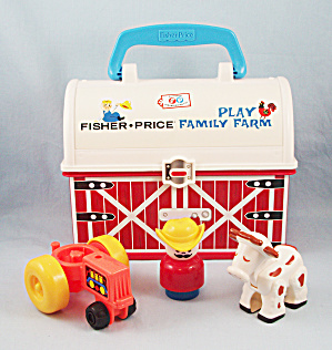 Fisher Price, Little People, Play Family Farm Barn With Figures