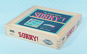Sorry Game, Nostalgia Game Series, Wood Box, Parker Brothers, 2002