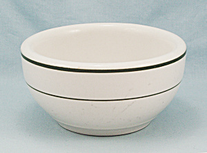 Vitrified China Chili Bowl - Green Rings