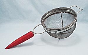 Androck Wire Mesh Strainer – Red Teardrop, Bakelite Handle (Image1)
