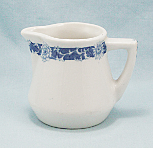 Creamer, Blue Floral Decoration
