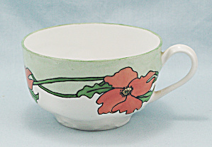 Haviland Cup – Orange Floral With Greens (Image1)