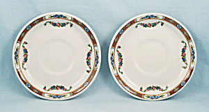 "Two Grindley ""neal Cafeterias"" Saucers"