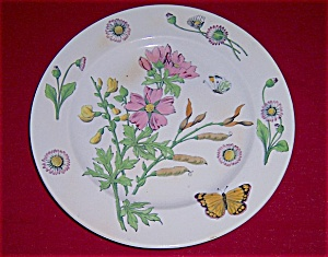 10-inch Ironstone Plate - W/ Decorations