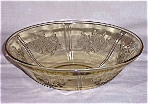 Amber Sharon/ Cabbage Rose- Large Berry Bowl, Federal Glass Co. (Image1)