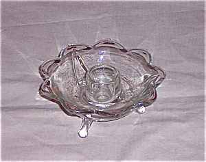 Fenton 9 Petal, Footed Candle (Image1)