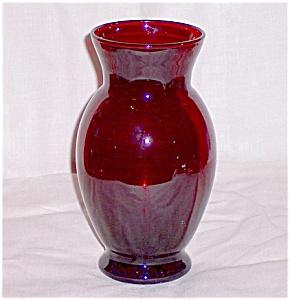 Royal Ruby Coolidge Vase- Anchor Hocking (Image1)