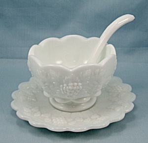 Westmoreland Paneled Grape - Cocktail / Mayonnaise Set / Ladle/ No. 1881