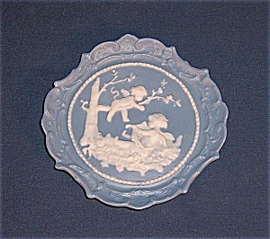 Jasperware Angel Plaque - Miniature Plate/ Pin Tray