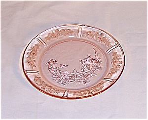 Sharon � Cabbage Rose � Dinner Plate � Federal Glass Co.	 (Image1)