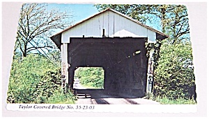 Post Card � Covered Bridge � Fairfield Co.OHIO � Taylor (Image1)