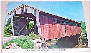 Post Card – Covered Bridge – Fairfield Co. OHIO- Brunner (Image1)