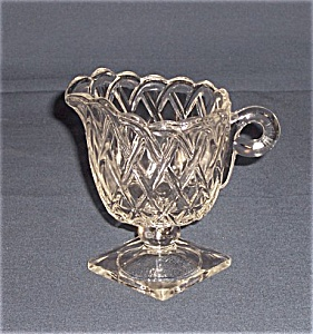 Depression Glass - Pretzel Creamer- No. 622 Indiana Glass Co. (Image1)