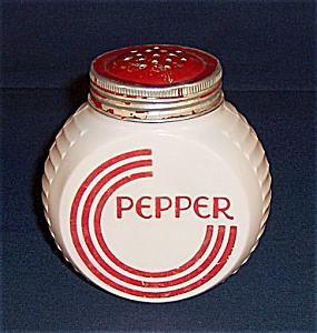 Hocking - Vitrock Red Circles- Pepper