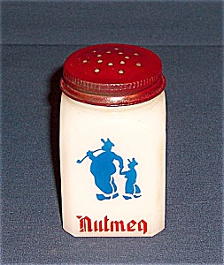 Shaker – Blue Dutch Figures, Red Lettering Bottom – Nutmeg (Image1)