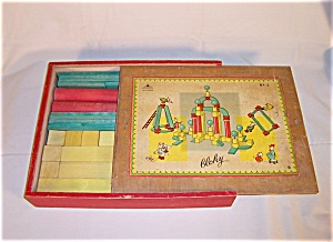 "Vintage Toy ""Bloky"" Building Blocks (Image1)"