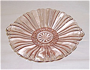 Depression Glass - Hocking Glass Co. – Old Café – Mint, Candy Dish – Pink (Image1)