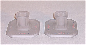 Tiffin Satin Candle Holder Pair