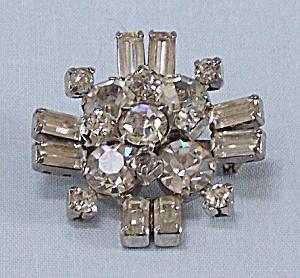 Rhinestone & Baguettes Pin (Image1)