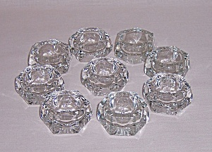 Glass Open Salts - Lot Of 9