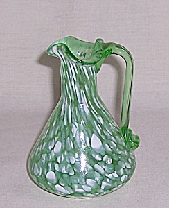 Hand Blown Spatter Glass Cruet - Rainbow Glass