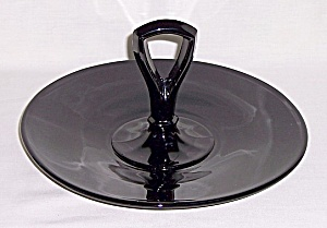 Black - Amethyst  Glass  Sandwich Tray (Image1)