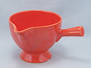 Vintage Fiesta Stick Handled Creamer, Red