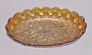 Imperial – Marigold - Carnival Glass Bowl – Pansy Pattern (Image1)