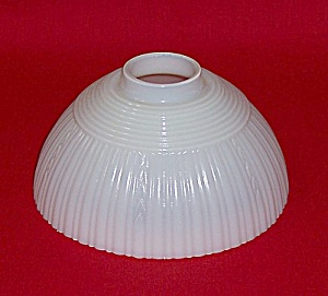 Vintage Iridescent Glass Lampshade, Ribbed