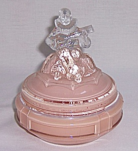 Art Deco Powder Jar - Minstrel