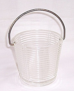 Crystal Ice Bucket, Rings Pattern (Image1)