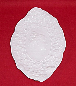 Milk Glass - Actress Dresser Tray- Jenny Lind Platter