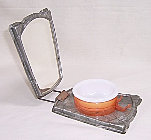 Celluloid Folding Shaving Mirror	 (Image1)